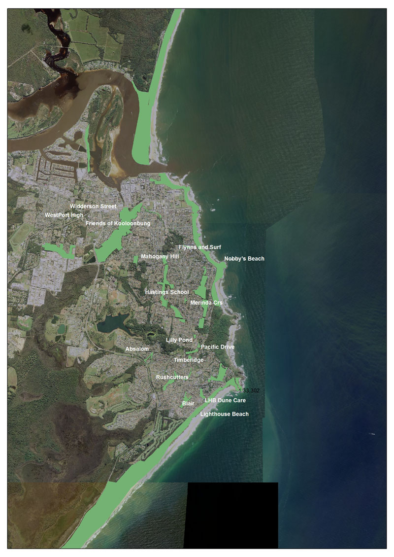 PMLG Project Sites around Port Macquarie